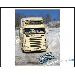 VISIERE POLYESTER SCANIA HAUTEUR 350MM 5 VEILLEUSES