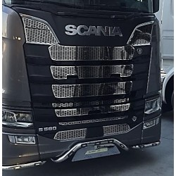 KIT GRILLES INOX CALANDRES COMPLETES SCANIA S NTG