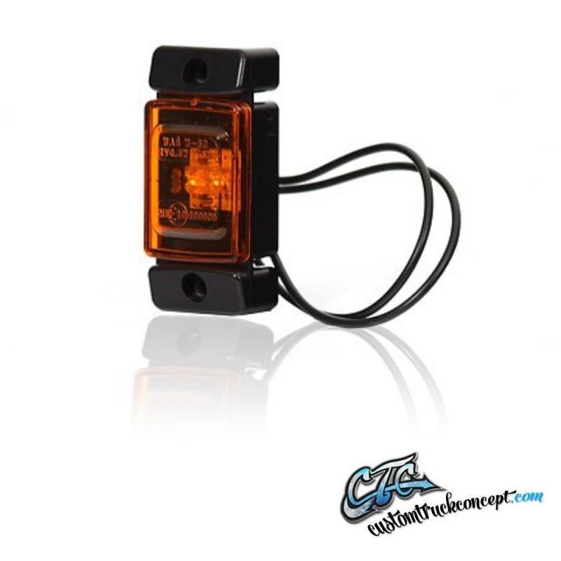 Marqueur latéral  LED Orange 12-24V E-approuvé.