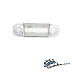 Pos. lumière 6 LED blanc 12-24V E-approuvé