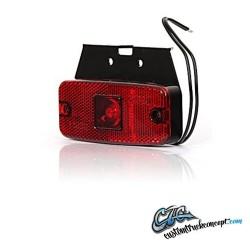 Pos. lumière LED 111x50mm Rouge. 12-24V E-approuvé