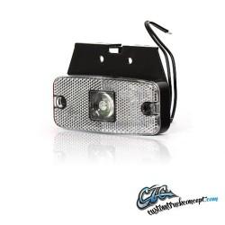 Feu de position LED 111x50mm Blanc avec equerre. 12-24V E-approuvé