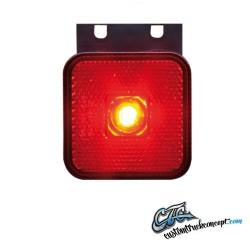 Pos. LED rouge 12-24V avec équerre. E-approuvé
