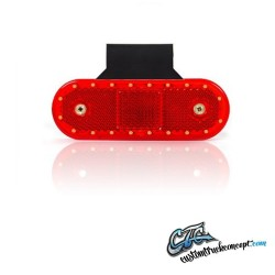 Pos. LED rouge 12-24V incl. équerre