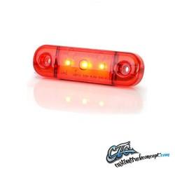 Pos. Lumière rouge mince 3 LED 9-36V IP68. E-approuvé.