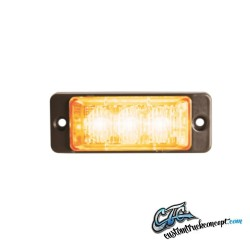 lumière stroboscopique Slim 12-24V 3 LEDx3W IP68 ECE / R65 approuvé Orange