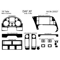 habillage tableau de bord daf xf 105 sans support telephone noyer customtruckconcept. Black Bedroom Furniture Sets. Home Design Ideas