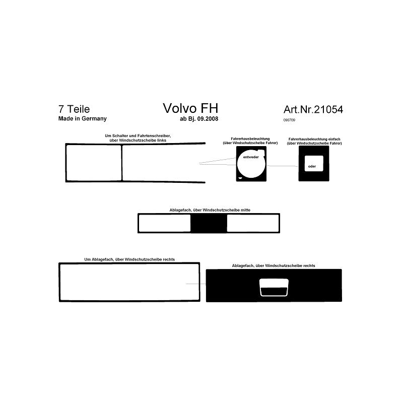 HABILLAGE TABLEAU DE BORD VOLVO FH2 & FH3 NOYER