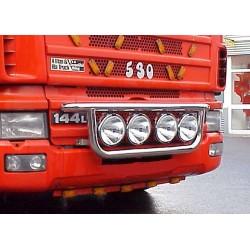 Rampe de calandre inox Scania 4 précablée.