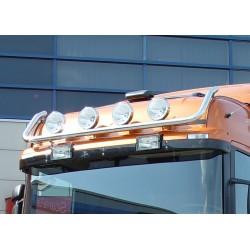 Rampe de toit inox Scania 4 & R1 & R2 Scania R HIGH LINE précablée 6 sorties.