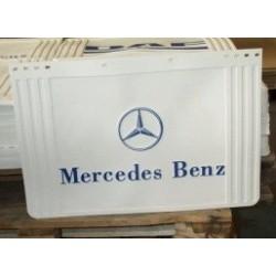 Bavette blanche retaillable 600/500 x 400 marquage Mercedes  bleu.