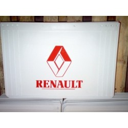 BAVETTE BLANCHE RETAILLABLE 600/500X400 MARQUAGE RENAULT ROUGE