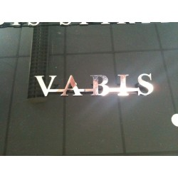 "LOGO INOX OLD SCOOL ""VABIS"" 230MM"
