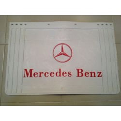 BAVETTE BLANCHE RETAILLABLE 600/500X400 MARQUAGE MERCEDES ROUGE