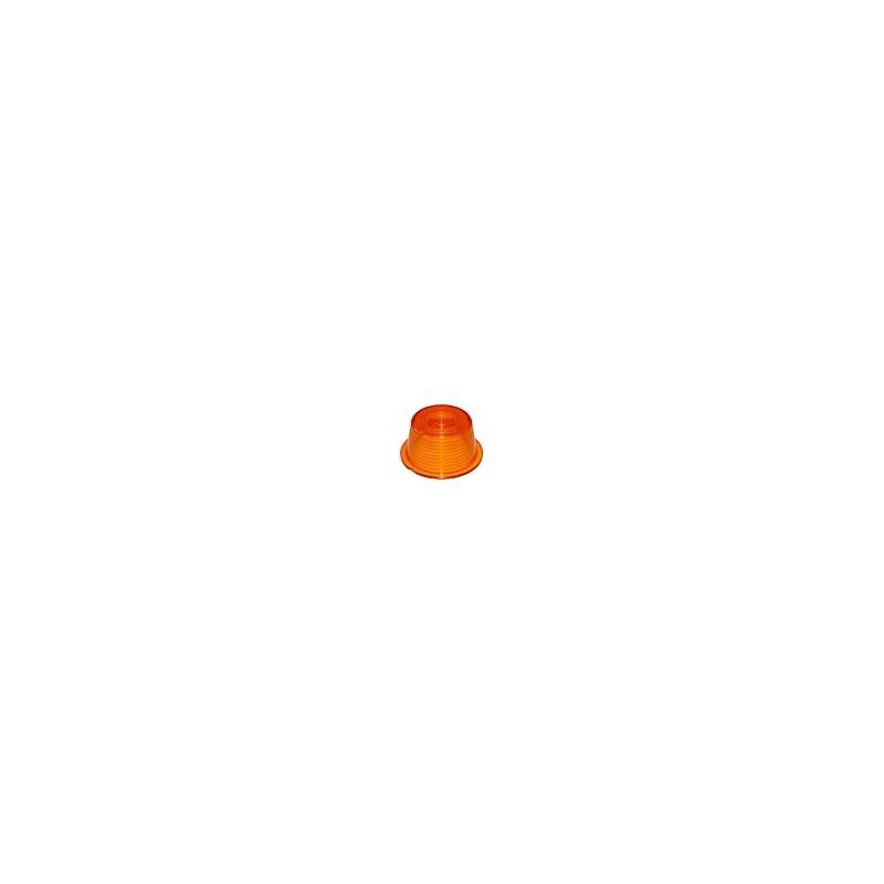 Cabochon orange pour feu suédois.