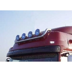 Rampe de toit inox Renault Premium DXI précablée 4 sorties.