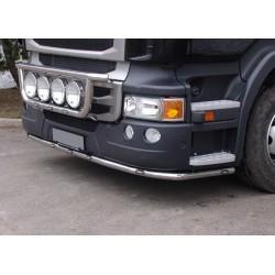Rampe inox sous pare-choc Scania R2 pare-choc haut avec leds.
