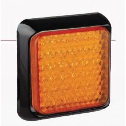 FEU ARRIERE CARRE 145 X 145 CLIGNOTANTS LEDS