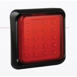 FEU ARRIERE CARRE 145 X 145 ANTI-BROUILLARD LEDS