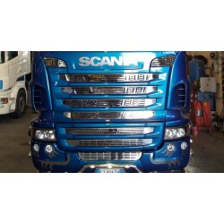 KIT GRILLES INOX CALANDRES COMPLETES SCANIA R2