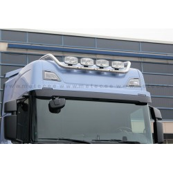 RAMPE DE TOIT INOX SCANIA NEXT GENERATION HIGHLINE PRECABLEE + LEDS
