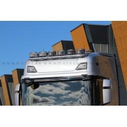 RAMPE DE TOIT TOP INOX SCANIA NEXT GENERATION PRE CABLEE 6 SORTIES + LEDS
