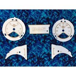 FOND DE COMPTEUR DAF XF EURO 6 BEIGE / MARRON