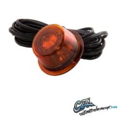 Feu latéral LED orange 5 LED  5m câble 24V