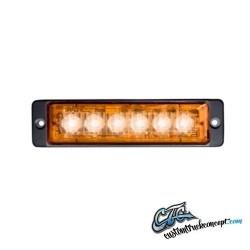 Strobe lumière 12-24V 6LEDx3W IP68 ECE / R65 approuvé Orange