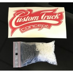 KIT 60 CROCHETS RIDEAUX VOLVO / RENAULT / MAN / IVECO