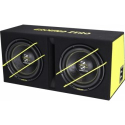 "Caisson SPL Double Subwoofer 30cms /12"" Ground Zero 2000Watts RMS"