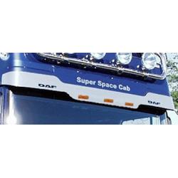 HABILLAGE INOX VISIERE AVEC RAJOUT BAS DAF XF 95 SUPER SPACE CAB