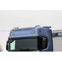 "RAMPE DE TOIT  INOX ""TOP"" SCANIA NEXT GENERATION AVEC BARRE DE LED INTEGREE PRE CABLEE"