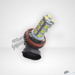 AMPOULE LED 24V POUR CAMION, H11 18 SMD BLANCHE