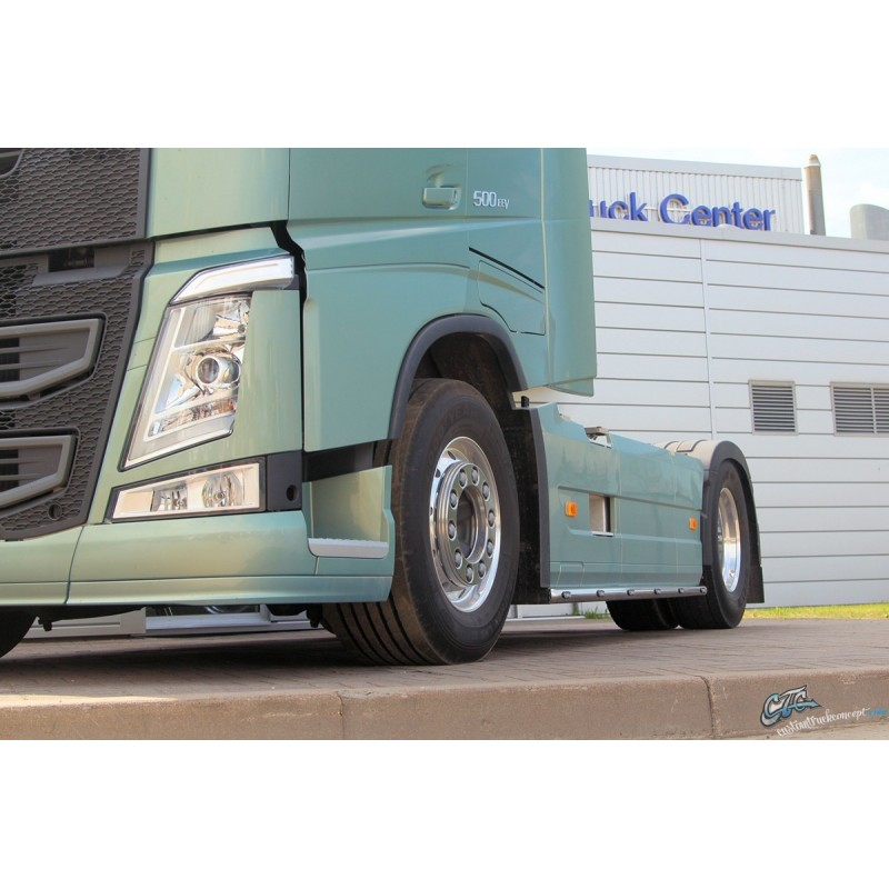RAMPES INOX SOUS CARENAGE VOLVO FH4 3800MM EURO6 AVEC LEDS