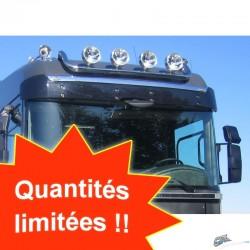 RAMPE DE TOIT INOX RENAULT MAGNUM 2008-2013 PRECABLEE 4 SORTIES