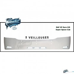 VISIERE POLYESTER DAF XF 105 & EURO 6 HAUTEUR 320MM 5 VEILLEUSES