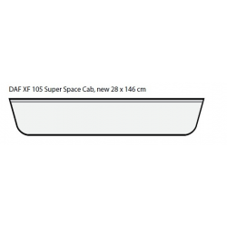 ENSEIGNE LUMINEUSE LEDS DAF XF 105 106 SUPER SPACE CAB 146 X 28 CM