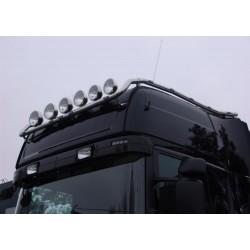 Rampe de toit inox Scania 4 & Scania R1 & R2 Top Line  modèle Nordique précablée 6 sorties + 15 Leds.