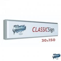 ENSEIGNE CAISSON LUMINEUX CLASSIC 150 X 30