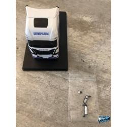 Maquettes Camions Iveco S-Way, vue du Poids Lourd blanc avec rétroviseurs