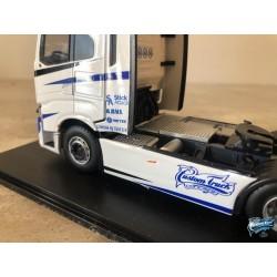 Maquettes Camions Iveco S-Way, vue sur le carénage du Poids Lourd blanc