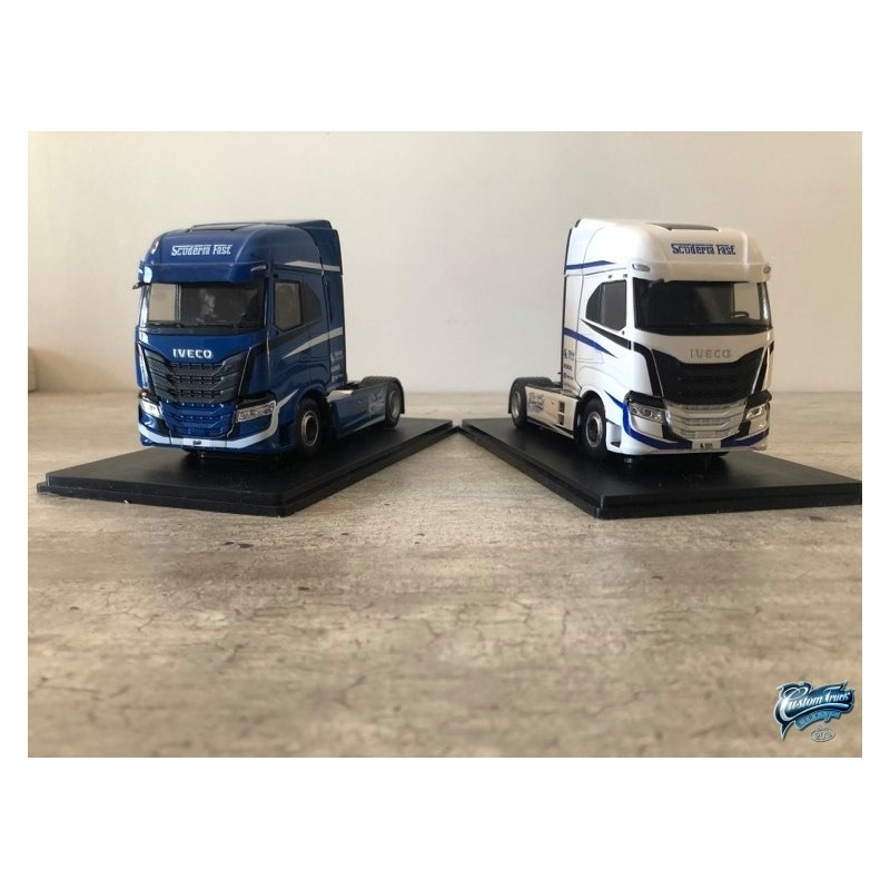 Maquettes Camions Iveco S-Way, vue de face sur la calandre