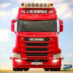 Visière Scania Next generation arrondie avec ou sans découpe pour les feux