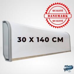 Enseigne Caisson lumineuse fine 30 x 140 cm pour Camion