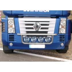 Rampe de calandre inox Renault Magnum depuis 2005 précablée.