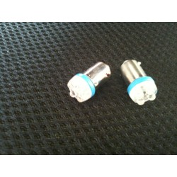 Ampoule 4 leds bleue Ba9s 24Volts. ( la paire)