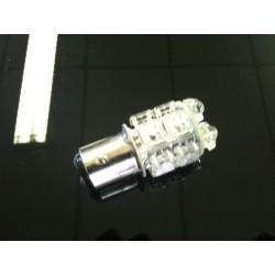 AMPOULE 13 LEDS BLANCHE BA15S 24VOLTS