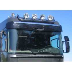 Rampe de toit inox Renault Magnum 2008-2013 précablée 4 sorties.