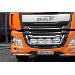 RAMPE INOX SOUS PARE-CHOC DAF XF EURO 6 2 PARTIES AVEC LEDS